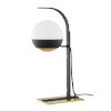 This item: Aly Aged Brass and Black One-Light Table Lamp