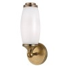 This item: Brooke Aged Brass One-Light Wall Sconce with Opal Glass