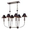 This item: Jasper Old Bronze Six-Light Island Light
