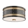 This item: Gaines Aged Old Bronze Two-Light Flush Mount
