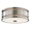 This item: Gaines Polished Nickel Three-Light Flush Mount with Frosted Inside-Clear Outside Glass