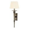 This item: Stanford Aged Silver Square One-Light Wall Sconce with White Shade