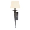 This item: Stanford Old Bronze Square One-Light Wall Sconce with White Shade