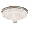 This item: Paris Polished Nickel Two-Light Flush Mount