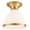 This item: Randolph Aged Bronze Semi Flush