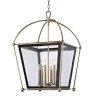 This item: Hollis Aged Brass Eight-Light Pendant with Clear Glass