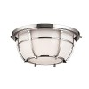 This item: Conrad Polished Nickel Two-Light Flush Mount with Opal Glossy Glass