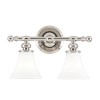 This item: Weston Polished Nickel Two-Light Bath Bracket
