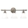 This item: Weston Three-Light Satin Nickel Bath Fixture