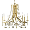 This item: Zariah Aged Brass 8-Light 27.5-Inch Chandelier