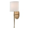 This item: Madison Aged Brass One-Light Wall Sconce with White Shade