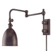 This item: Roslyn Old Bronze Adjustable Arm Wall Sconce