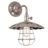 This item: Heirloom Historic Nickel One-Light Small Wall Sconce with Scalloped Shade and Wire Guard