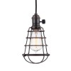 This item: Heirloom Old Bronze One-Light 5.5-Foot Cord Mini Pendant with Wire Guard
