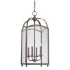 This item: Millbrook Distressed Bronze Four-Light Pendant with Clear Glass