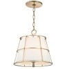 This item: Savona Aged Brass Two-Light Pendant with Linen Shade