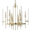 This item: Bari Aged Brass 12-Light Chandelier with Clear Glass