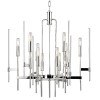 This item: Bari Polished Nickel 12-Light Chandelier with Clear Glass
