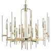 This item: Bari Aged Brass 16-Light Chandelier with Clear Glass