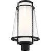 This item: Anau Black One-Light Outdoor Post Lantern