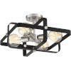 This item: Prana Black Four-Light Semi Flush Mount