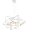 This item: Prana White 20-Inch Four-Light Pendant