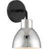 This item: Sloan Black One-Light Vanity  with Polished Nickel Shade