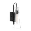 This item: Bahari Black One-Light Wall Sconce