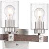 This item: Arabel Nickel Two-Light Vanity