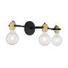 This item: Mantra Black and Brushed Brass Three-Light Bath Vanity