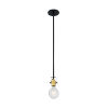 This item: Mantra Black and Brushed Brass One-Light Mini Pendant