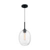 This item: Aria Matte Black 17-Inch One-Light Pendant with Clear Seeded Glass