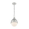 This item: Ronan Polished Nickel 14-Inch One-Light Pendant
