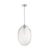 This item: Aria Polished Nickel 23-Inch One-Light Pendant with Clear Seeded Glass