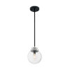 This item: Axis Matte Black and Brushed Nickel One-Light Pendant