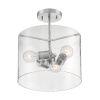 This item: Sommerset Brushed Nickel Three-Light Semi-Flush Mount