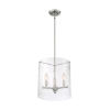 This item: Bransel Brushed Nickel Three-Light Pendant with Clear Seeded Glass