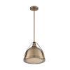 This item: Barbett Burnished Brass 13-Inch One-Light Pendant
