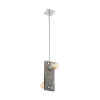 This item: Stella Driftwood and Brushed Nickel Two-Light Pendant