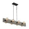 This item: Stella Driftwood and Black Eight-Light Pendant