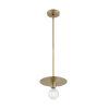 This item: Bizet Vintage Brass One-Light Mini Pendant