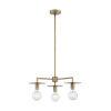 This item: Bizet Vintage Brass Three-Light Chandelier