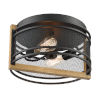 This item: Atelier Black and Honey Wood Two-Light Flush Mount
