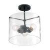 This item: Sommerset Matte Black Three-Light Semi-Flush Mount