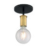 This item: Ryder Black and Brushed Brass One-Light Semi-Flush Mount