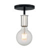 This item: Ryder Black and Polished Nickel One-Light Semi-Flush Mount