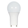 This item: SATCO Frosted White LED A19 GU24 11 Watt Type A Bulb with 2700K 1100 Lumens 80 CRI and 220 Degrees Beam