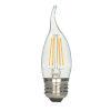 This item: SATCO Clear LED CA11 Medium 4.5 Watt LED Filament Bulb with 2700K 450 Lumens 80 CRI and 360 Degrees Beam, Carded