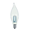 This item: SATCO Clear LED CA8 Candelabra 1 Watt Candle LED Light Bulb with 2700K 25 Lumens 80 CRI and 360 Degrees Beam
