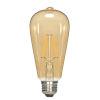 This item: SATCO Transparent Amber LED ST19 Medium 4.5 Watt LED Filament Bulb with 2300K 400 Lumens 80 CRI and 360 Degrees Beam